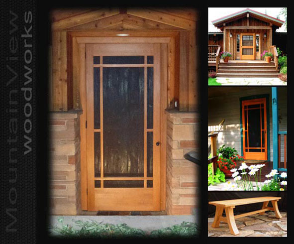Hand Crafted Cedar Screen Doors On Sale Now One Of A Kind
